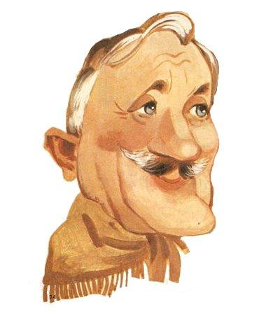 Estévez Boero, por Villarreal, en una caricatura de 1989 (archivo La Vanguardia).