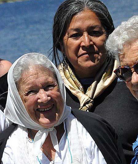 Con Nora Cortiñas, de Madres Línea Fundadora.