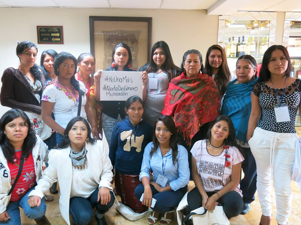 En Michoacán, en el foro Internacional de Mujeres Indígenas.