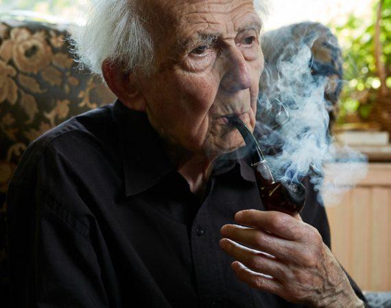 Prof. Zygmunt Bauman at his Leeds home.