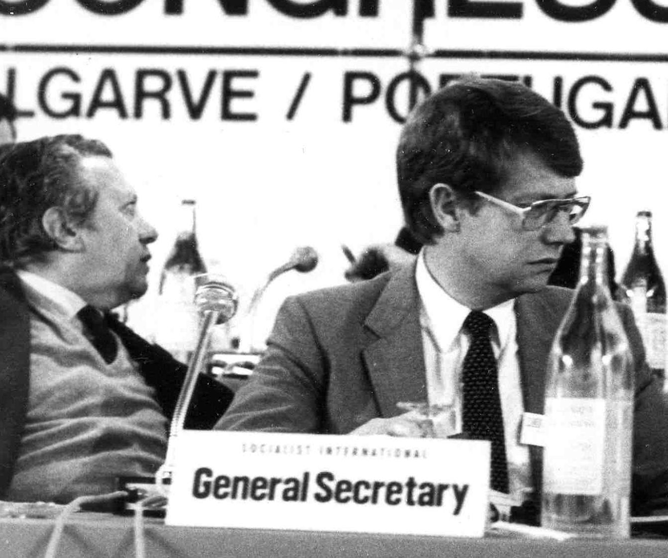 Bernt Carlsson, secretario general de la IS, en 1976.