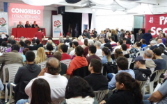 Una imagen del encuentro socialista bonaerense, en Vicente López.