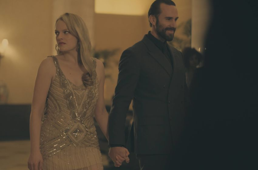 "The Handmaid's Tale -- ""Jezebels"" -- Episode 108 -- The Commander surprises Offred with a secret adventure in Gilead. Nick's troubled past leads to his recruitment by the Sons of Jacob. Offred (Elisabeth Moss) and Commander Waterford (Joseph Fiennes), shown. (Photo by: George Kraychyk/Hulu)"